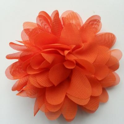 fleur mousseline orange   10cm