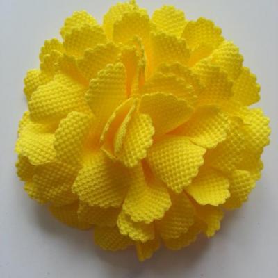 fleur tissu 10 à 11cm jaune