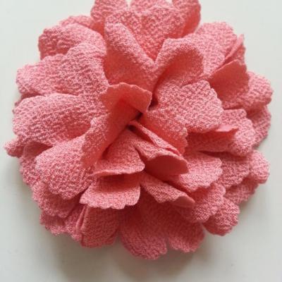 fleur tissu 10 à 11cm saumon