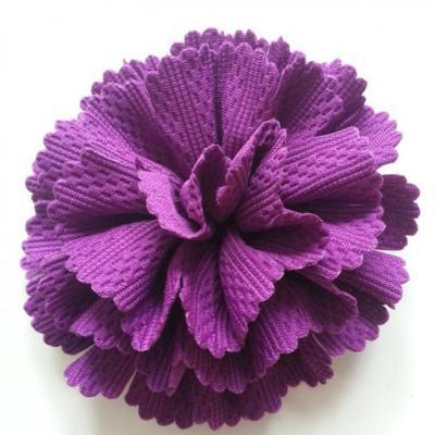 fleur tissu 10 à 11cm violet