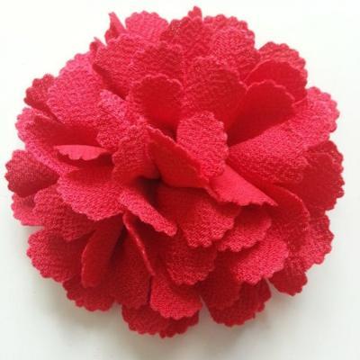 fleur tissu 10 à 11cm rouge
