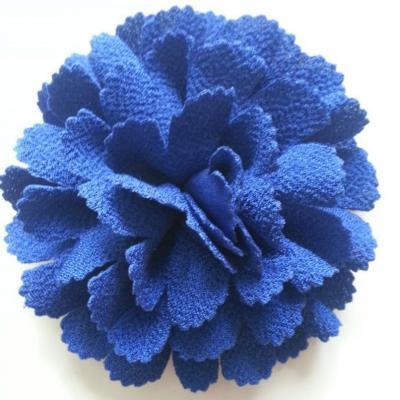 fleur tissu 10 à 11cm bleu royal