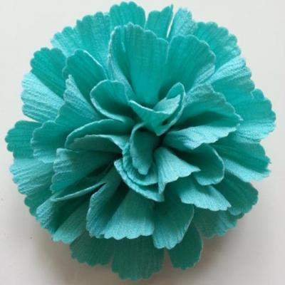 fleur tissu 10 à 11cm vert