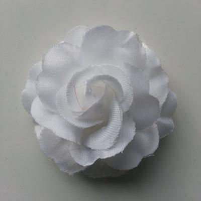 fleur en tissu blanc de 45mm
