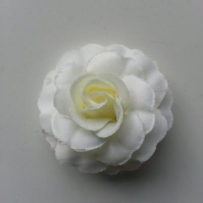 fleur en tissu ivoire de 45mm