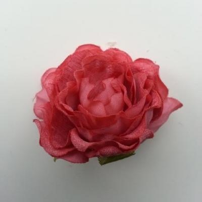 fleur artificielle en tissu de 40mm vieux rose foncé
