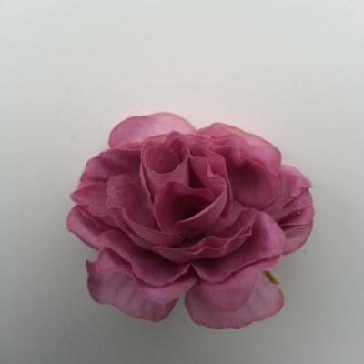 fleur artificielle en tissu de 40mm vieux rose