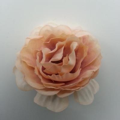 fleur artificielle en tissu de 40mm beige