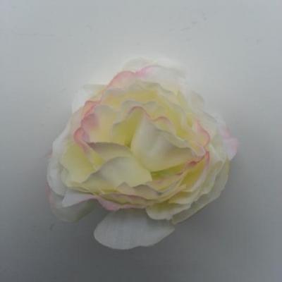fleur artificielle en tissu de 40mm ivoire et rose