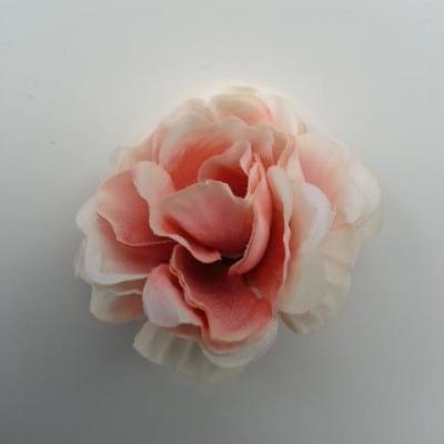fleur artificielle en tissu de 40mm ivoire et peche