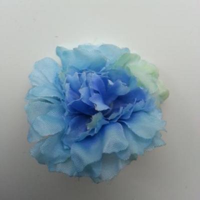 fleur artificielle en tissu de 45mm bleu