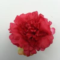 fleur artificielle en tissu de 45mm rouge