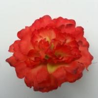 fleur artificielle en tissu de 45mm orange et jaune
