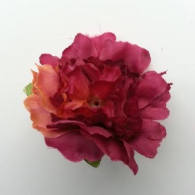 fleur artificielle en tissu de 45mm bordeaux