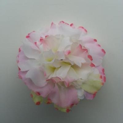 fleur artificielle en tissu de 45mm rose et blanc