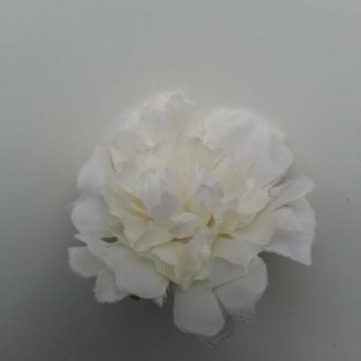 fleur artificielle en tissu de 45mm ivoire