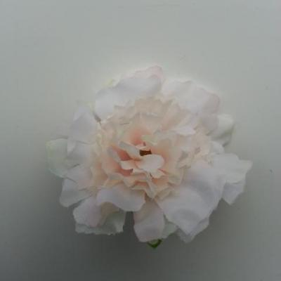 fleur artificielle en tissu de 45mm ivoire rosé