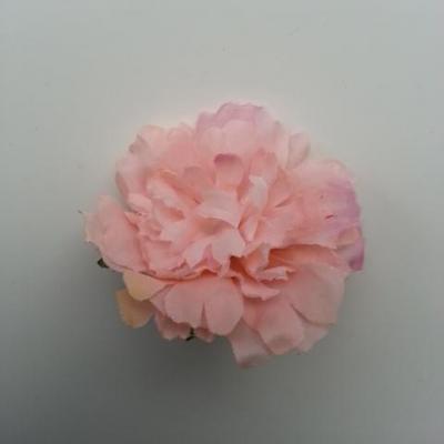 fleur artificielle en tissu de 45mm peche