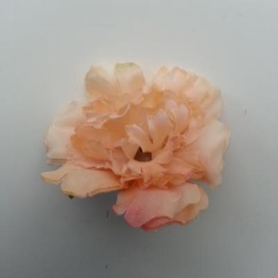 fleur artificielle en tissu de 45mm abricot