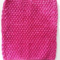 bustier tube crochet  pour tutu rose fuchsia 20*23cm