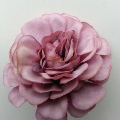 fleur artificielle en tissu vieux rose  55mm