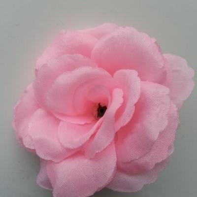 fleur en tissu  70mm rose pale