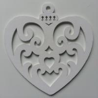 coeur en bois blanc 95*100mm