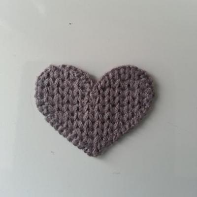 coeur en tricot gris 28*35mm