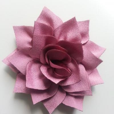 fleur en tissu vieux rose  70mm