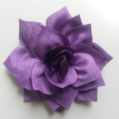 fleur en tissu violet 70mm