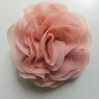 fleur en mousseline pêche clair   70mm