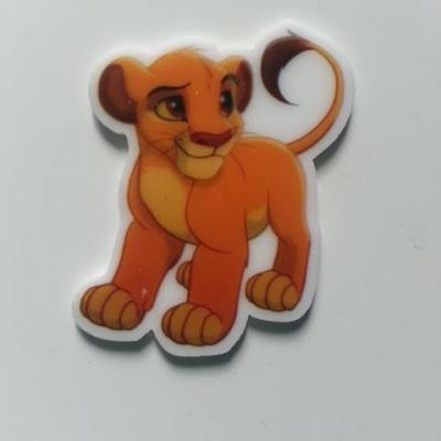 Cabochon roi lion plat en résine 30*40mm