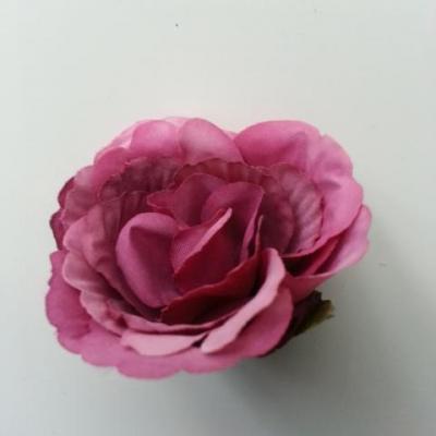 tête de fleur artificielle en tissu 50mm vieux rose prune