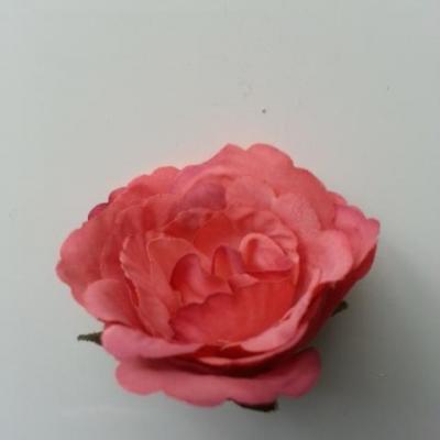 tête de fleur artificielle en tissu 50mm vieux rouge saumoné