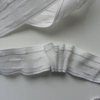 ruflette galon fronceur pour rideaux de 30mm de large blanc