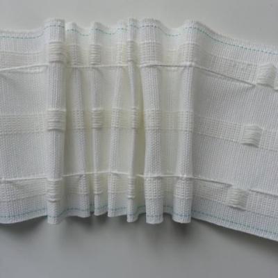 1 mètre ruflette galon fronceur pour rideaux de 10cm de large blanc