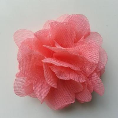 fleur mousseline rose saumoné 50mm