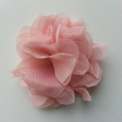 fleur mousseline vieux rose 50mm