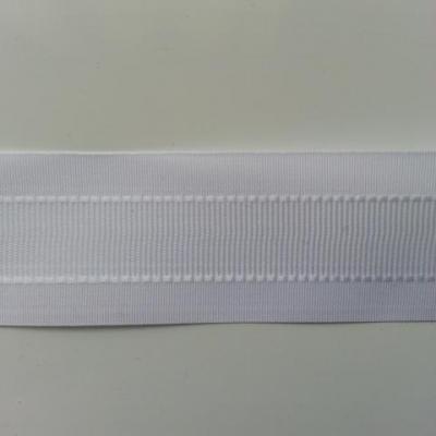 un mètre de ruban polyester blanc  25mm