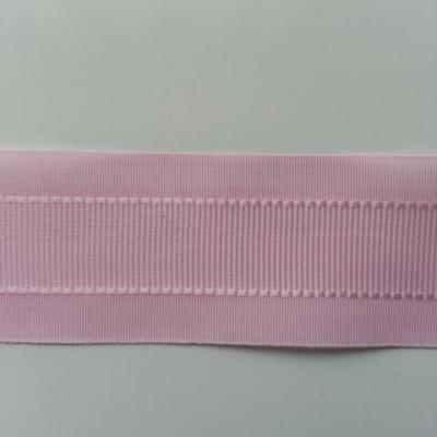 un mètre de ruban polyester rose   25mm