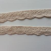 1 metre de ruban  de dentelle festonnée ivoire de    17 mm