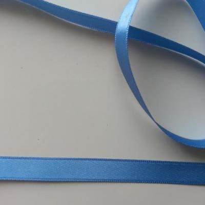 1 metre de ruban  de satin double face bleu   ciel 10 mm