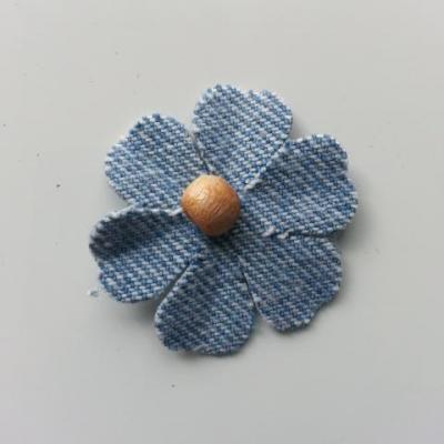 fleur de 35mm en jean trés clair