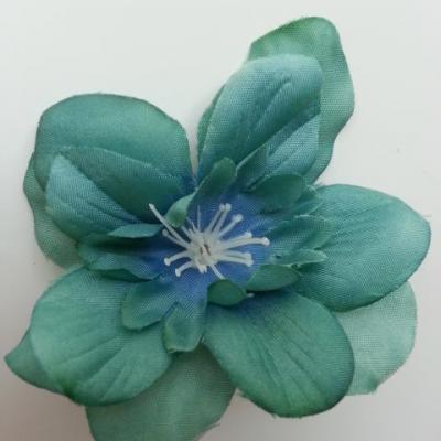 fleur artificielle en tissu 60mm vert