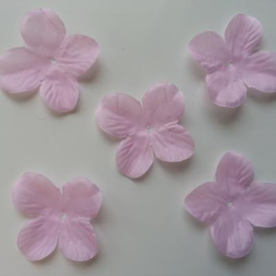 lot de 5 fleurs en tissu 50mm rose