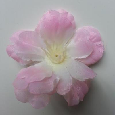 fleur artificielle en tissu 50mm blanc et rose pale