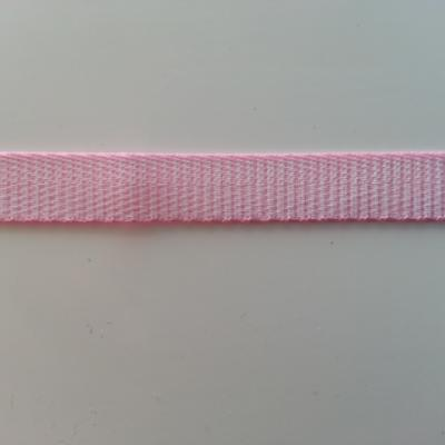 1 metre  de ruban gros grain rose motif rayure  10mm