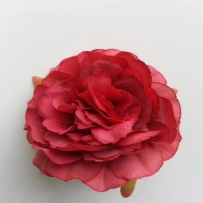 fleur artificielle en tissu de 60mm bordeaux