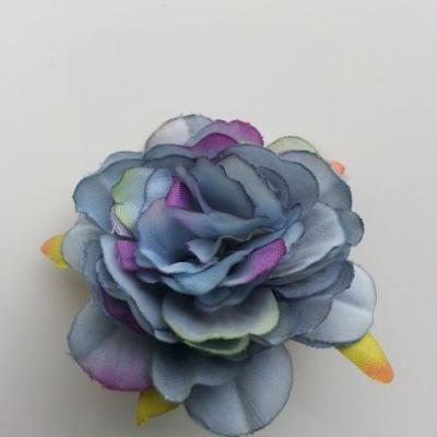 fleur artificielle en tissu de 60mm bleu
