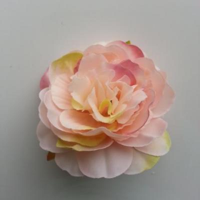 fleur artificielle en tissu de 60mm peche et rose